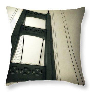 Mackinac Bridge 2.0 Throw Pillow