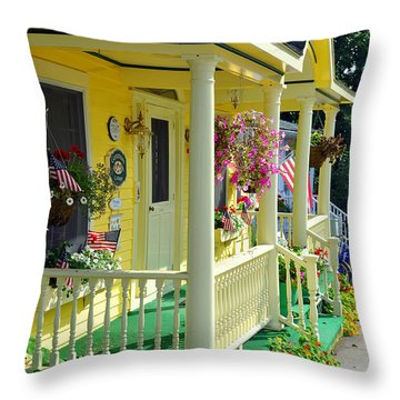 Mackinac Island Americana Throw Pillow