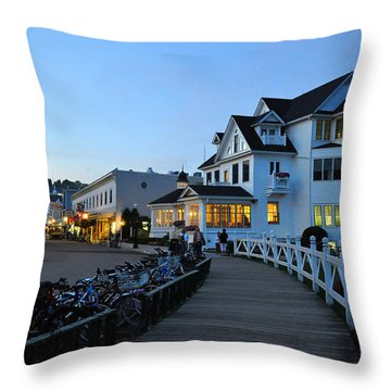 Mackinac Island At Dusk Throw Pillow