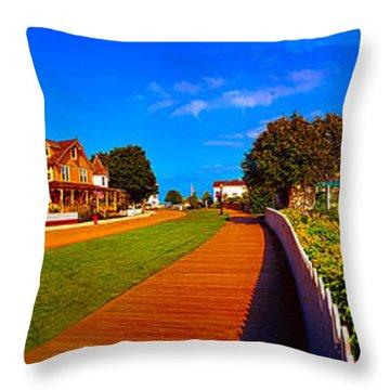 Mackinac Island Flower Garden  Throw Pillow