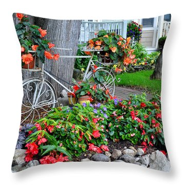 Mackinac Island Garden Throw Pillow