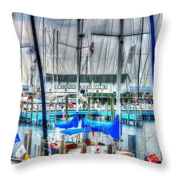 Mackinac Island Harbor Throw Pillow
