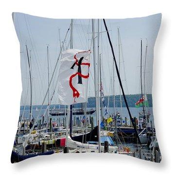 Throw Pillow featuring the photograph Mackinac Island Port by Randy Pollard