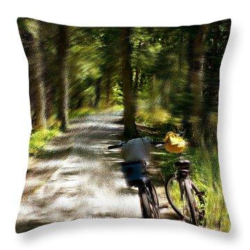 Mackinac Island Woods Throw Pillow