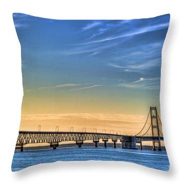 Mackinac Sunset Throw Pillow