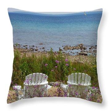Mackinac View Throw Pillow