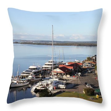 Macquarie Harbour Tasmania All Profits Go To Hospice Of The Calumet Area Throw Pillow