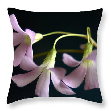 Macro Clover Throw Pillow