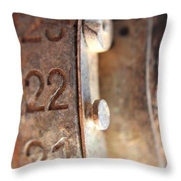 Macro Enigma Throw Pillow
