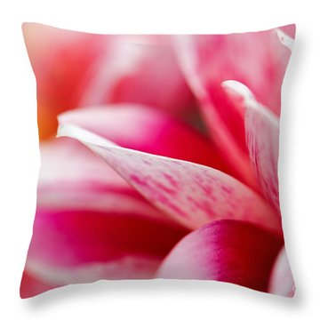 Macro Image Of A Pink Flower Throw Pillow