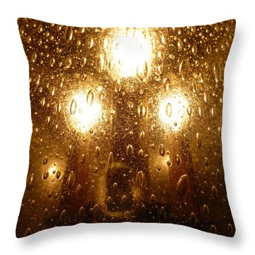 Macro Lights Throw Pillow