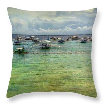Mactan Island Bay Throw Pillow