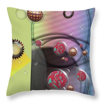 Mad Art Throw Pillow by Liane Wright