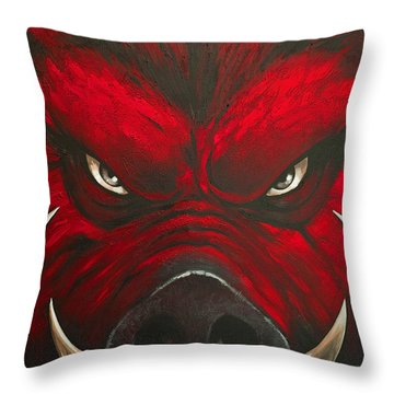 Mad Hog Throw Pillow