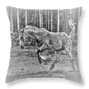 Mad Horse Throw Pillow
