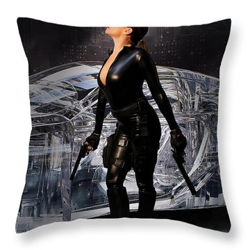 Madam Matrix Throw Pillow