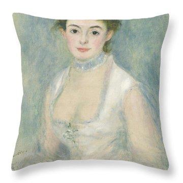 Madame Henriot Throw Pillow