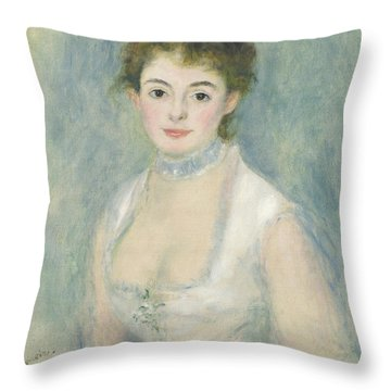 Madame Henriot Throw Pillow