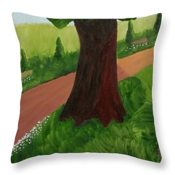 Madame Reading Throw Pillow