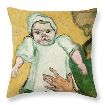 Madame Roulin And Her Baby Throw Pillow by Vincent Van Gogh