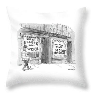 Madame Talia Second Opinions Throw Pillow