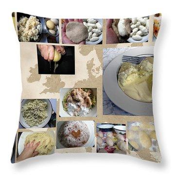Throw Pillow featuring the photograph Made In Lithuania... Cepelinai- Potato Dumplings by Ausra Huntington nee Paulauskaite