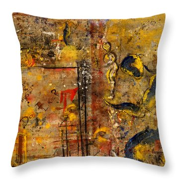 Made In The Likeness Of ? Throw Pillow