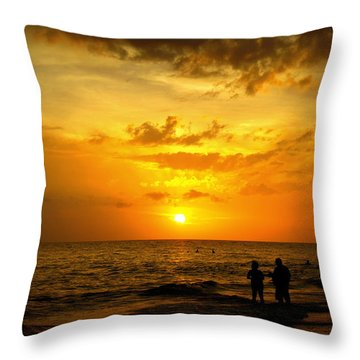 Throw Pillow featuring the photograph Madeira Sunset by Laurie Perry