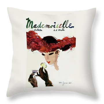 Mademoiselle Cover Featuring A Woman In A Red Throw Pillow