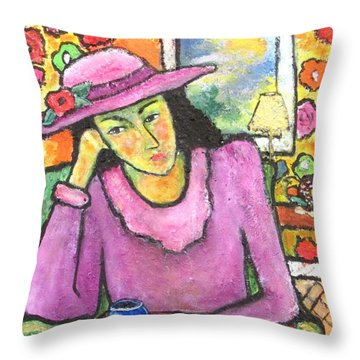 Mademoiselle Espame Throw Pillow by Chaline Ouellet