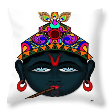 Madhusudana Throw Pillow