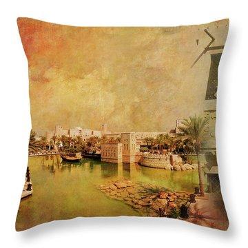 Madinat Jumeirah Throw Pillow by Catf