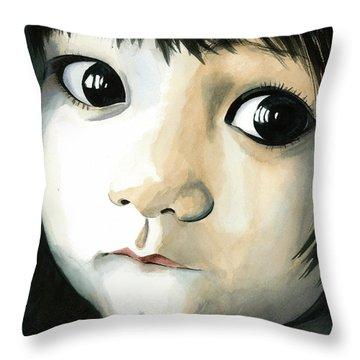 Madi's Eyes Throw Pillow