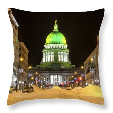 Madison Capitol Throw Pillow