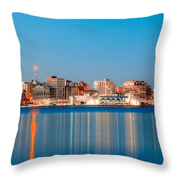 Madison Skyline Throw Pillow