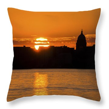 Madison Sunset Throw Pillow