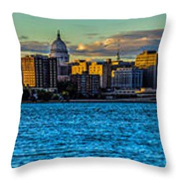Madison Twilight Panorama Throw Pillow by Randy Scherkenbach
