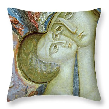 Madonna And Child Throw Pillow by Alek Rapoport