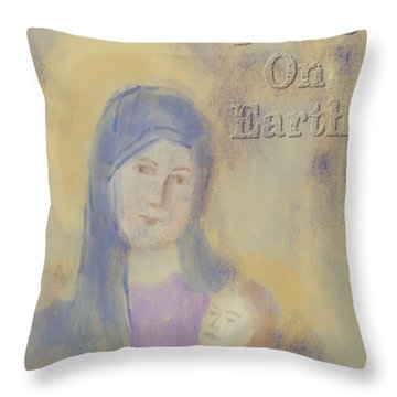 Throw Pillow featuring the digital art Madonna And Child by Arline Wagner