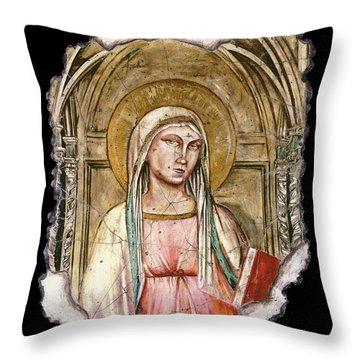 Madonna Del Parto Throw Pillow by Steve Bogdanoff