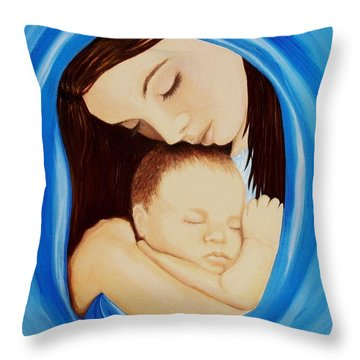 Madonna Of The Sea Throw Pillow by Sophia Schmierer