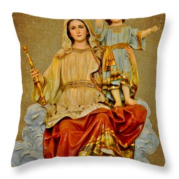 Throw Pillow featuring the photograph Madonna With Child by Christine Till