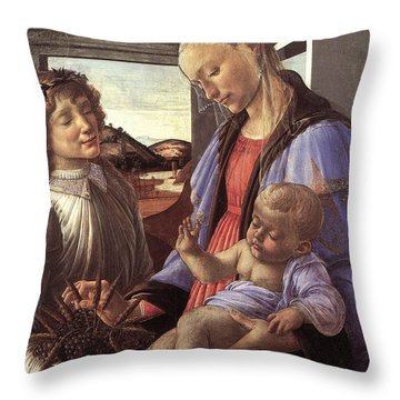 Madonna With Child Throw Pillow by Unknown