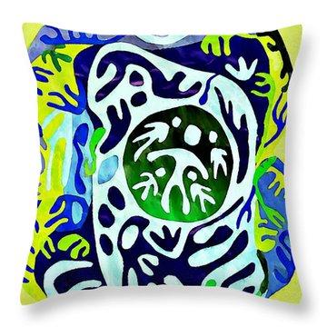Madre Protectora Throw Pillow by Sarah Loft