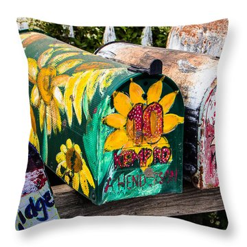 Madrid Mail Throw Pillow