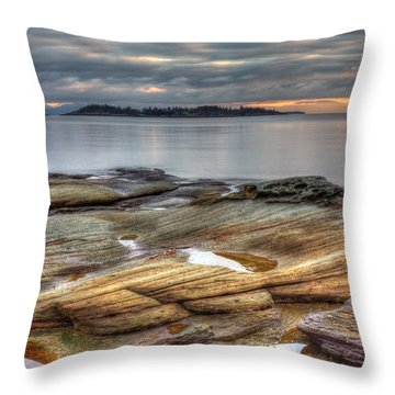 Madrona Sunrise Throw Pillow by Randy Hall