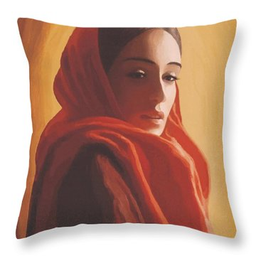 Throw Pillow featuring the painting Maeror by Sophia Schmierer