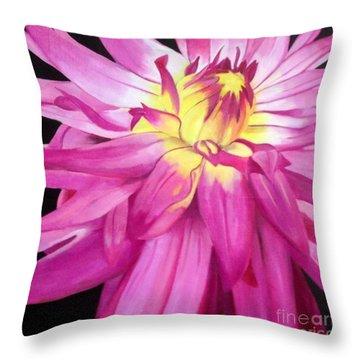 Magenta Beauty Throw Pillow