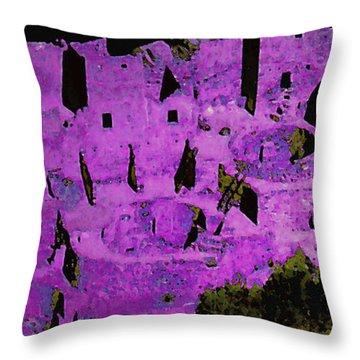 Magenta Dwelling Throw Pillow by David Hansen