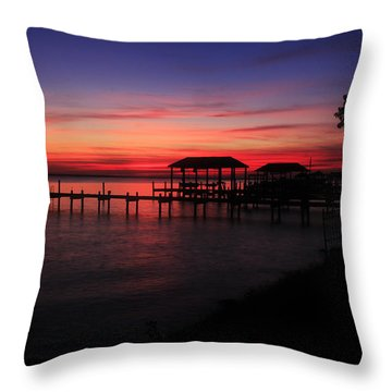 Throw Pillow featuring the photograph Magenta Evening  by Ola Allen